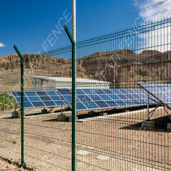 Modular Weldmesh Fencing For Solar Plant