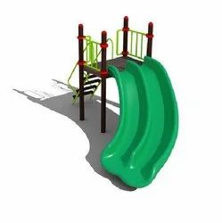 Play Ground Equipment Green Plastic Slide, Age Group: 4-12 Years