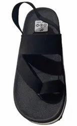 Casual Black Don Men Rubber Sandal, Size: 8