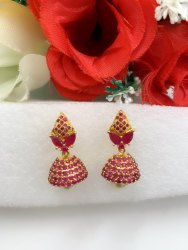 Golden ad stone Imitation Jewelry Earrings