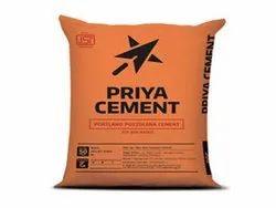 Priya PPC Grade Cement, Packaging Size: 50 Kg