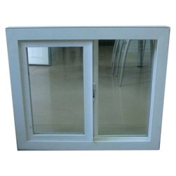 White UPVC Sliding Windows, Glass Thickness: 6 Mm