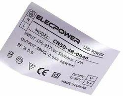 PVC Silver Sticker, Packaging Type: Box