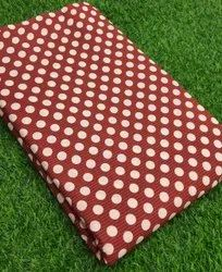Red Printed Hand Block Cotton Fabric