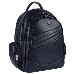 Hammonds Flycatcher Genuine Leather Blue 15.6 Inch Laptop Backpack