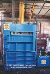Spinning Mill Waste Cotton Baling Press