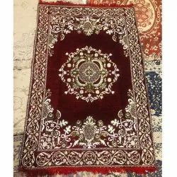 For Home Red Hand Knotted Cotton Printed Carpets