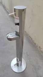 foot operated hand sanitizing stand