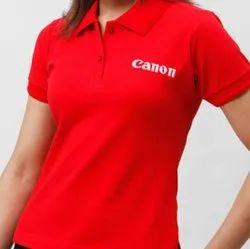 Gunja Textiles Casual Wear Corporate Women'S T Shirt