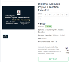 2-3 Months Diploma Accounts, Payroll & Taxation