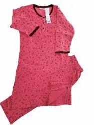 Cotton Long Top Pyjama Set, Kurti And Pajama, Size: Large