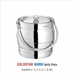 Stainless Steel Milk Pot -Gold Star Laser Eteching & Plain
