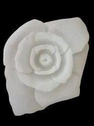 White Marble Rose Flower, For Home