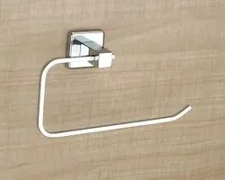 Silver 304 Stainless Steel Towel Holder, For Bathroom