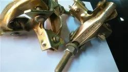 Golden Zinc Plated Pressed Swivel Coupler, For Construction, Electro Galvanised