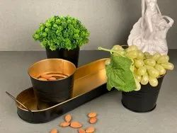 Iron Multipurpose Container Set With A Tray