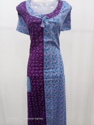 Multicolor Designer Cotton Nighty
