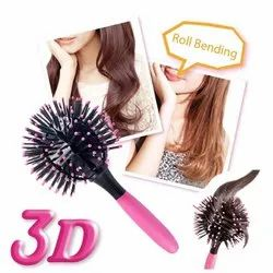 3D Spherical Comb Bomb Curl Brush Full Round Curling Styling Brush Tangle