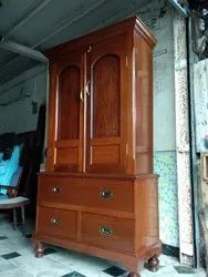 Brown Wooden Almirah Mission Style Furniture Gallery, Size: 7ft