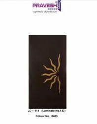 Black Wood LD - 114 Laminated Door, For Villas