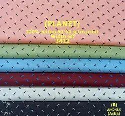 Planet 100% Cotton Satin Print Shirting Fabric