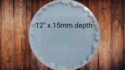 SILICONE 12 X 15MM AGATE COASTER MOLD - URP102-RM