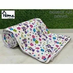 Flower Printed Double Bed AC Dohar Blanket