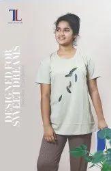 Talal Half Sleeve Ladies Cotton Pyjama Set, Size: Medium