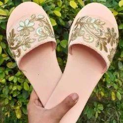 Trasco Pink GotaPatti Sliders