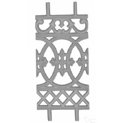 Silver Cast Iron Balcony Grill