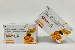 Vitamin C Vitamin D3 Zinc Sulphate & Astaxanthin Tablet