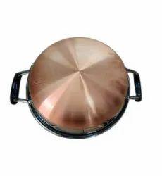 Natraj Stainless Steel Copper Bottom Kadai, For Kitchen, Size: 12 Inch