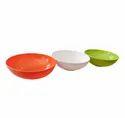 Glamour Plastics Multicolor Plastic Service Bowl, Set Contains: 1 Piece, Size: 7.5 Inch