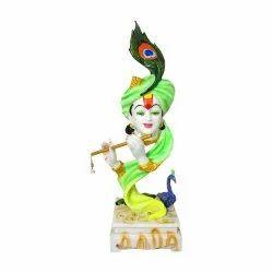 Polymarble Pagdi Face Krishna Statue