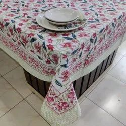 Vht Cotton Block Printed Table Cover, Size: 60*90 Inch
