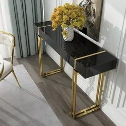 Console Table In Gold Finish