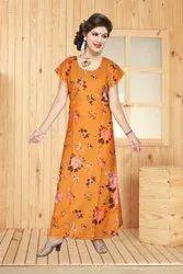 Ladies Wear Floor Length Gown