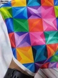 Colorful Flora Sartin Silk Digital Print Fabric