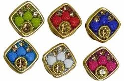 Golden Metal Fancy Garment Buttons, For Kurti and suits, Packaging Type: Packet