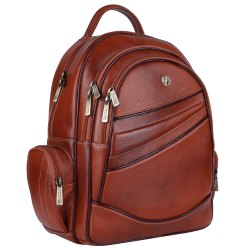 Hammonds Flycatcher Genuine Leather Tan 15.6 Inch Laptop Backpack