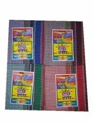 Bangali Dada Check Cotton Gamcha, Rectangle, Size: 30x70 Inch