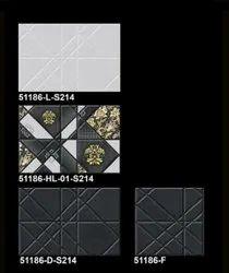 Rectangular 300X450mm Glossy Ceramic Bathroom Wall Tile, Thickness: 12 mm