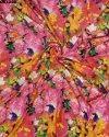 Stunning Semi Velvet Sateen Silk Digital Print Fabric