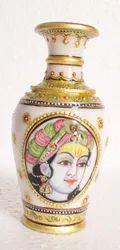 Marble Vase with Krishna