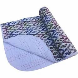 Cotton Printed Hand Kantha Baby Quilt