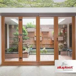 White Upvc Sliding And Folding Door System, Size/dimension: 9x8