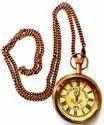 TORA Brass Anchor Pocket Watch