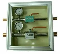 Area Valve Box With Valves And Pressure Gauge