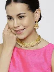 Golden Artificial Necklace Set