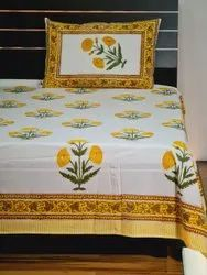 Mughal Flower Printed Bed Sheets